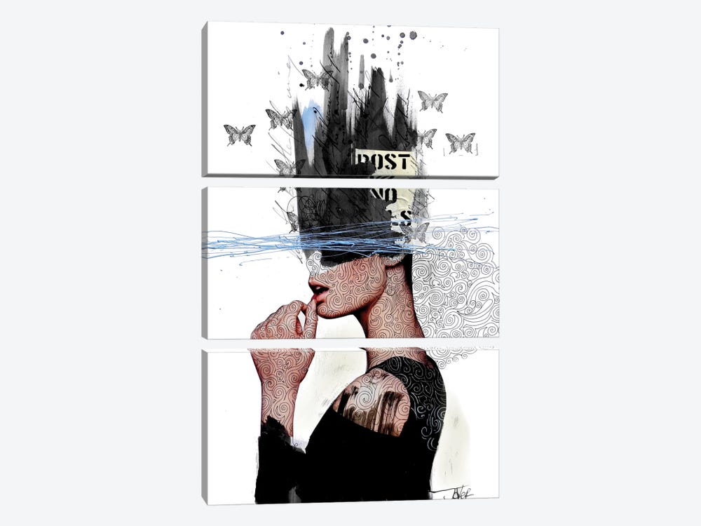 Labyrinth by Loui Jover 3-piece Canvas Art Print