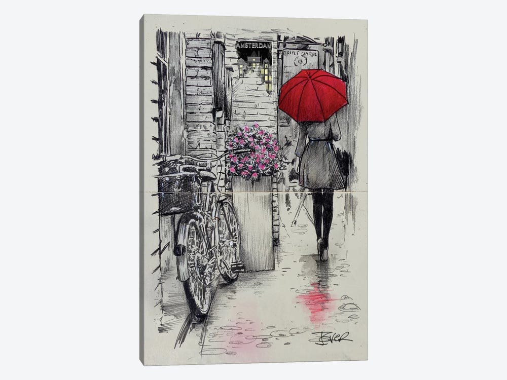 Amsterdam Walk by Loui Jover 1-piece Art Print