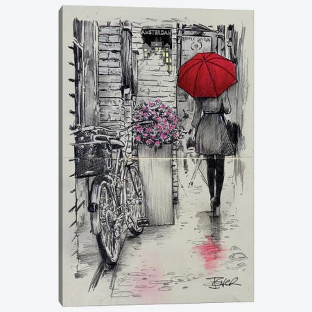 Amsterdam Walk Canvas Print #LJR232} by Loui Jover Canvas Artwork