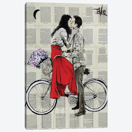 Bike Days Canvas Print #LJR237} by Loui Jover Canvas Print