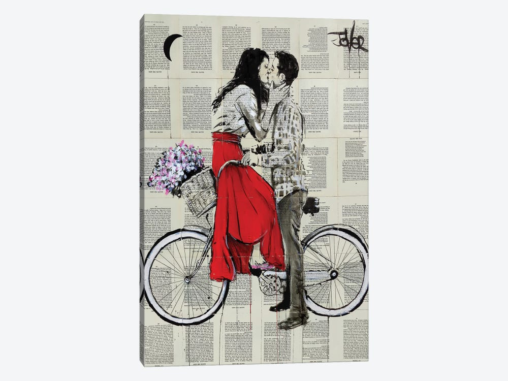 Bike Days by Loui Jover 1-piece Canvas Wall Art