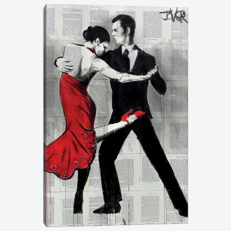 Flamenco Nights Canvas Print #LJR241} by Loui Jover Canvas Art Print