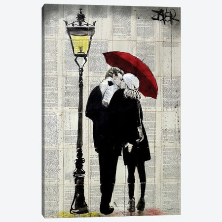 Lamp Lovers Canvas Print #LJR246} by Loui Jover Canvas Artwork