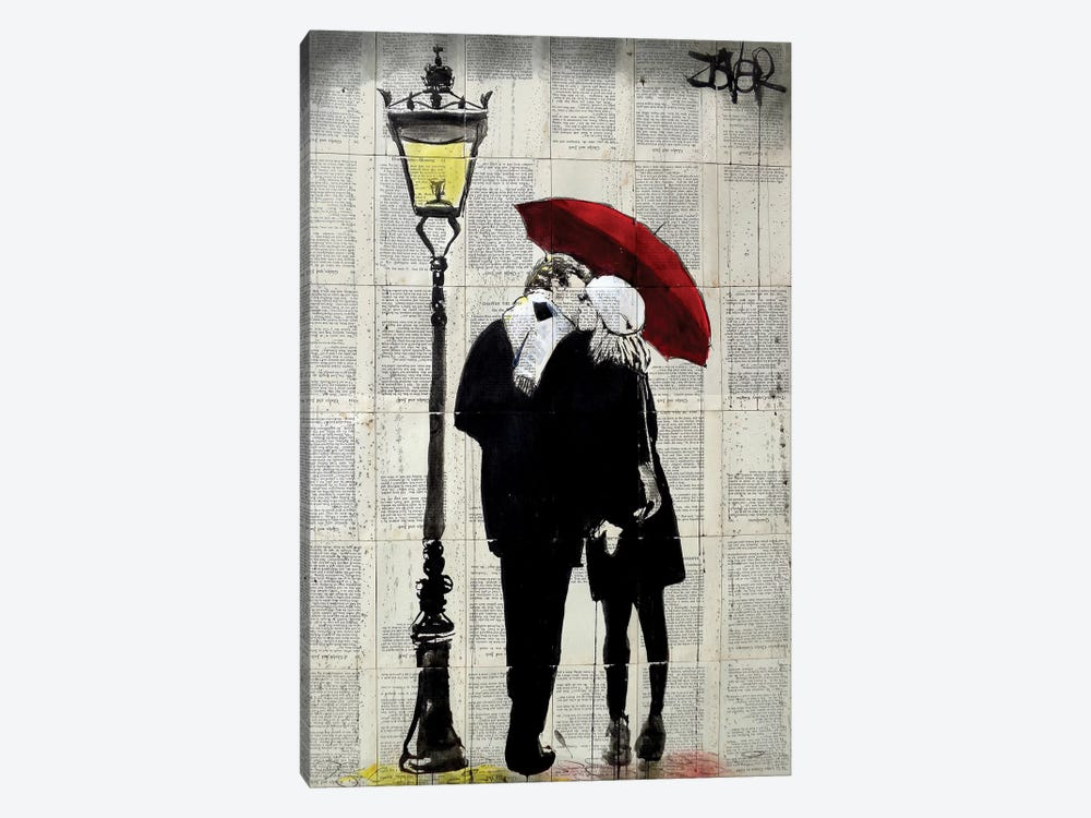 Lamp Lovers by Loui Jover 1-piece Canvas Art