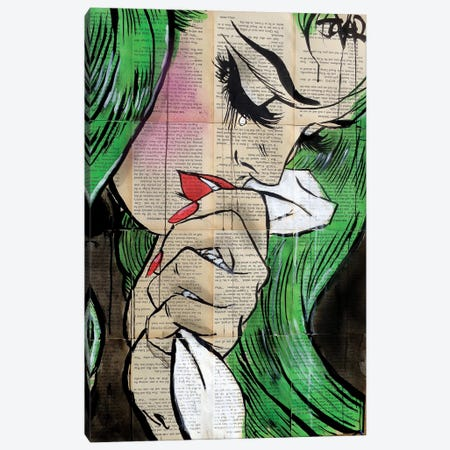 Pop Cry Canvas Print #LJR247} by Loui Jover Canvas Art