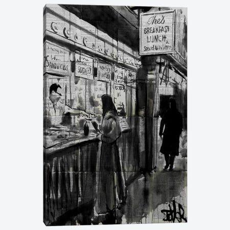 Night Café Canvas Print #LJR24} by Loui Jover Art Print