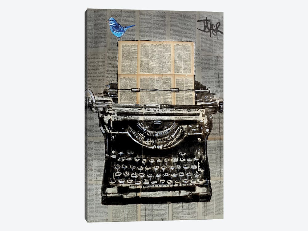 The Writer by Loui Jover 1-piece Canvas Art
