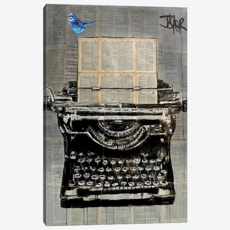 The Writer 3-Piece Canvas #LJR255} by Loui Jover Canvas Print
