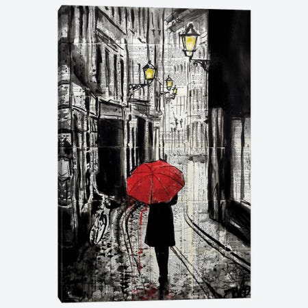 The Delightful Walk Canvas Print #LJR262} by Loui Jover Canvas Art Print
