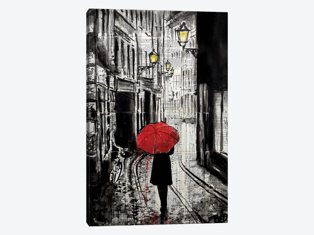 The Delightful Walk by Loui Jover 1-piece Canvas Wall Art