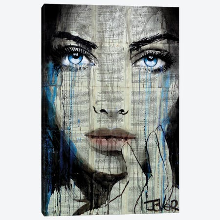 Windy Canvas Print #LJR263} by Loui Jover Art Print