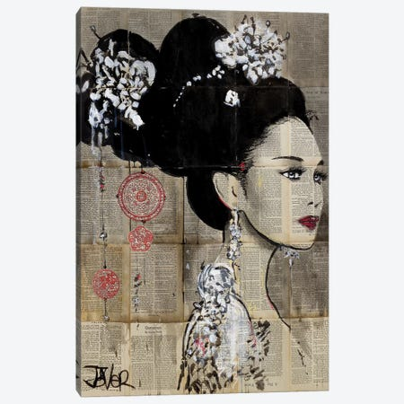 Yu Canvas Print #LJR265} by Loui Jover Canvas Art