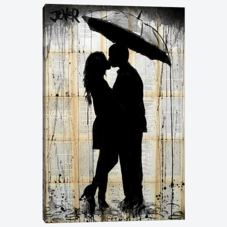Rain Lovers Canvas Print #LJR26} by Loui Jover Canvas Art Print