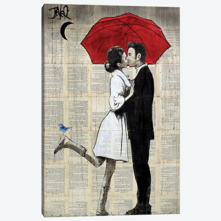 Magical Rain Canvas Print #LJR282} by Loui Jover Art Print