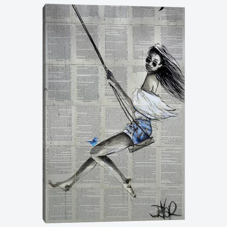 Spring Swing Canvas Print #LJR291} by Loui Jover Canvas Art