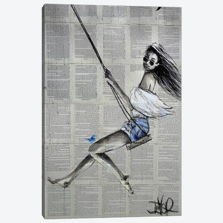 Spring Swing Canvas Print #LJR291} by Loui Jover Canvas Art