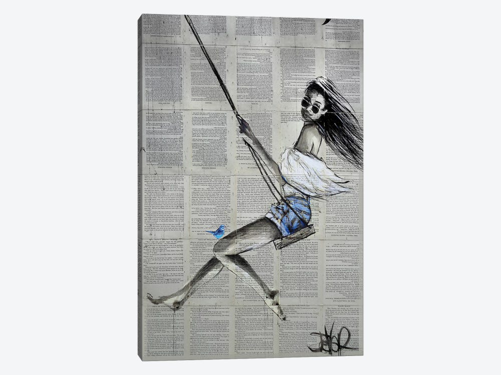 Spring Swing by Loui Jover 1-piece Canvas Art