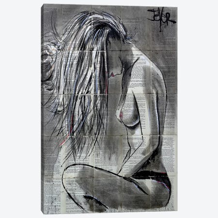 White Wash Canvas Print #LJR295} by Loui Jover Art Print