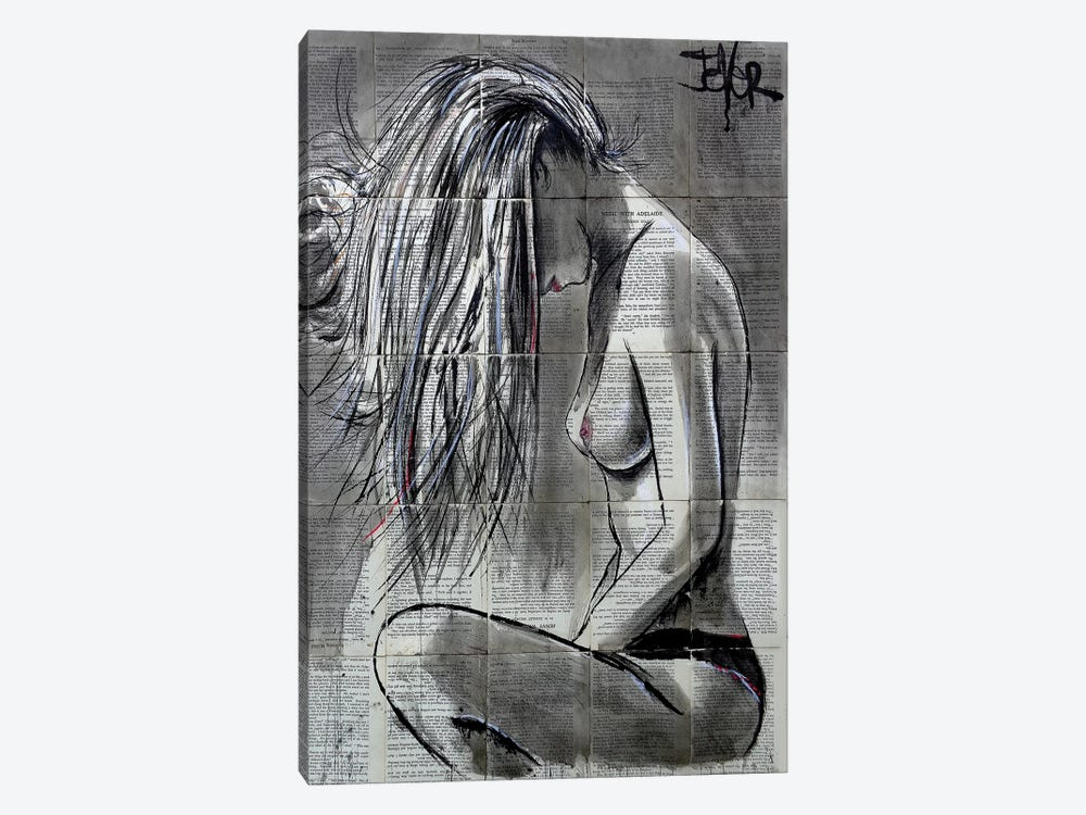 White Wash by Loui Jover 1-piece Canvas Wall Art