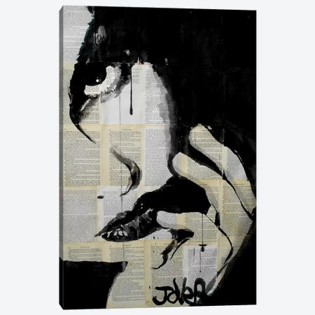 Sometimes Hearts Are Dark Canvas Print #LJR29} by Loui Jover Canvas Wall Art