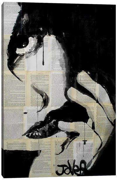 Sometimes Hearts Are Dark Canvas Art Print