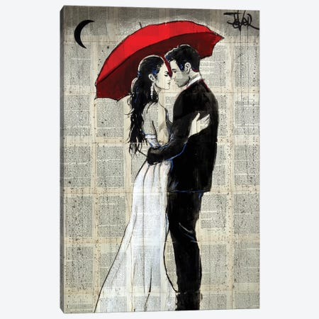 Some Rainy Night Canvas Print #LJR312} by Loui Jover Art Print