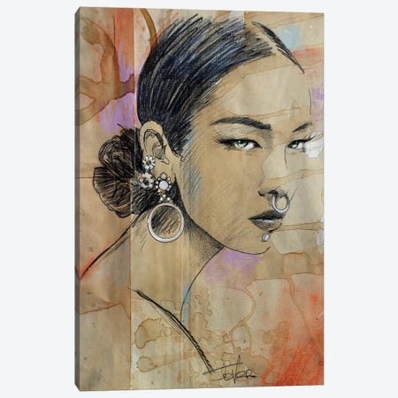 Chant Canvas Print #LJR318} by Loui Jover Canvas Print
