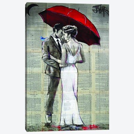 Rainy Moon Canvas Print #LJR340} by Loui Jover Canvas Artwork