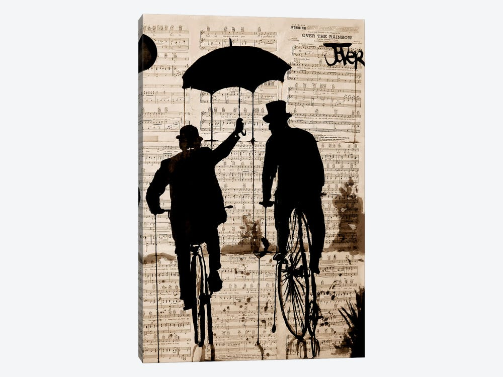 The Umbrella by Loui Jover 1-piece Canvas Art