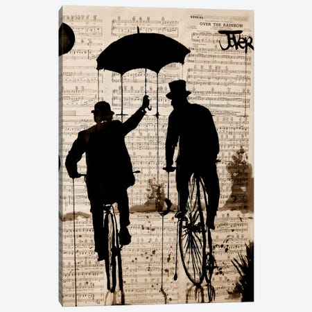 The Umbrella Canvas Print #LJR34} by Loui Jover Canvas Artwork