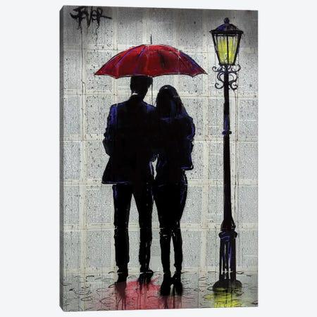 Rain Rain Come Again Canvas Print #LJR357} by Loui Jover Canvas Wall Art