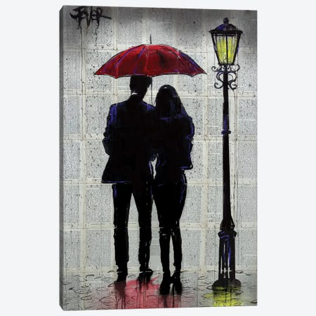 Rain Rain Come Again Canvas Print #LJR357} by Loui Jover Canvas Wall Art