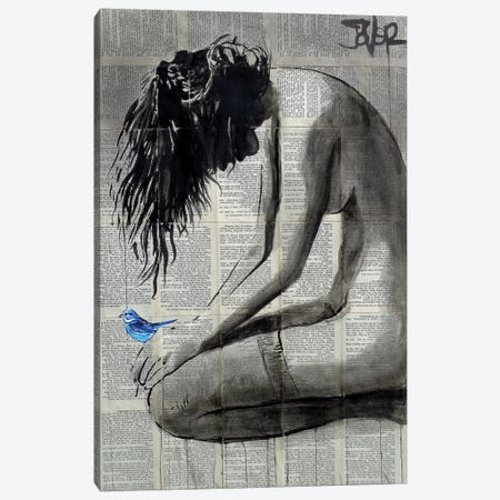 A Little Blue Canvas Print #LJR380} by Loui Jover Canvas Artwork