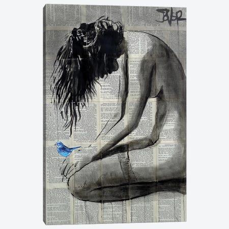 A Little Blue Canvas Print #LJR380} by Loui Jover Canvas Artwork