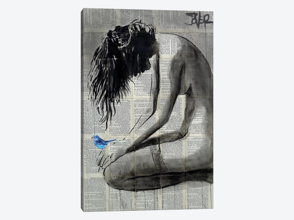 A Little Blue by Loui Jover 1-piece Canvas Print