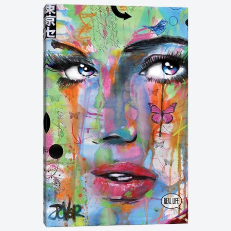 Real Life Canvas Print #LJR402} by Loui Jover Canvas Art Print