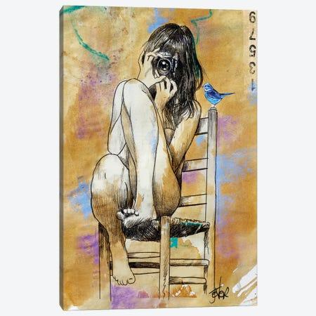Click Bluebird Canvas Print #LJR411} by Loui Jover Canvas Art