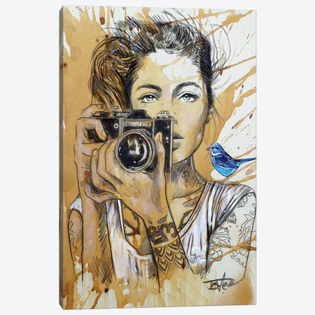 Bluebirds Canvas Print #LJR413} by Loui Jover Canvas Artwork
