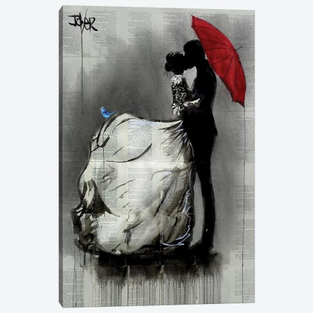 Big Dress Canvas Print #LJR432} by Loui Jover Canvas Art