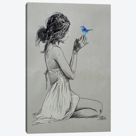 Hope And Pray Canvas Print #LJR437} by Loui Jover Art Print