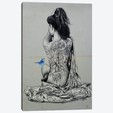 Hope And Serpent Canvas Print #LJR439} by Loui Jover Canvas Art