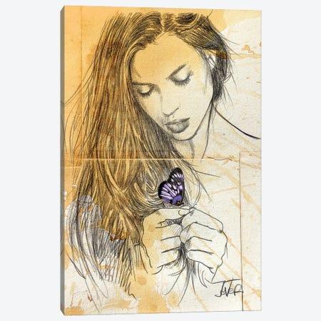 Blue Butterfly Canvas Print #LJR446} by Loui Jover Canvas Artwork