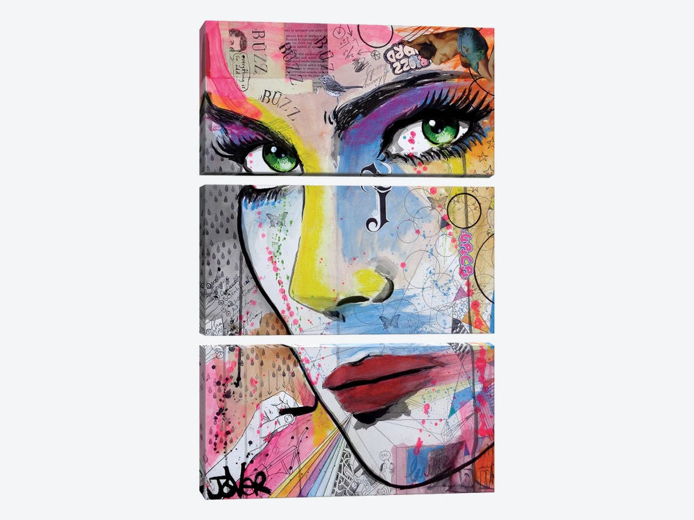 Buzz by Loui Jover 3-piece Canvas Art
