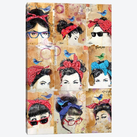 9 Bandana's Canvas Print #LJR468} by Loui Jover Canvas Print