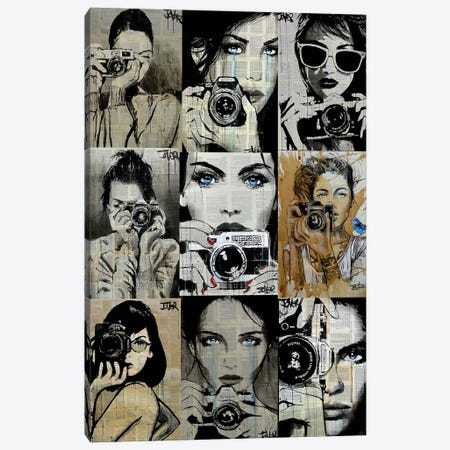9 Camera Gals Canvas Print #LJR469} by Loui Jover Canvas Art Print