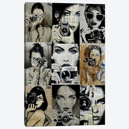 9 Camera Gals Canvas Print #LJR469} by Loui Jover Canvas Art Print