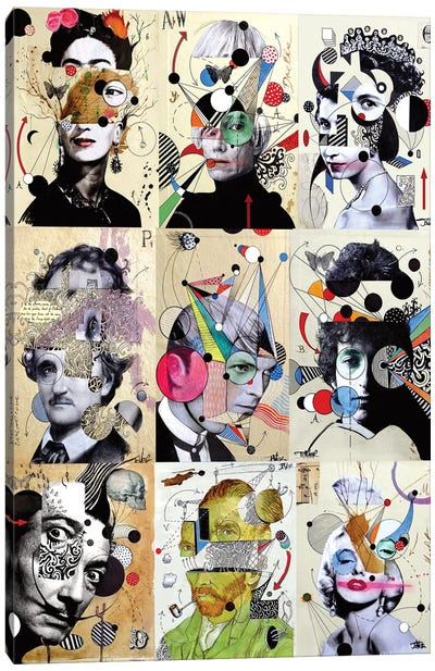 9 Deconstructions Canvas Art Print