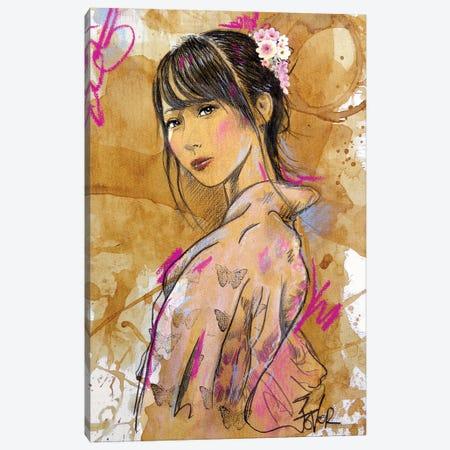 Sakura Canvas Print #LJR479} by Loui Jover Canvas Artwork