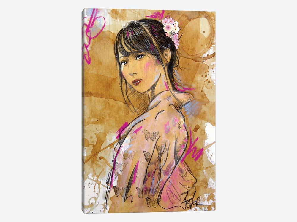 Sakura by Loui Jover 1-piece Canvas Wall Art