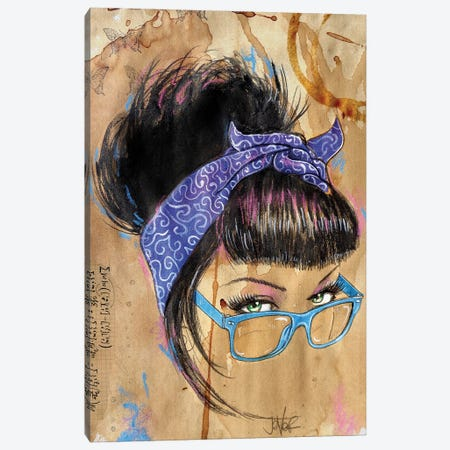 Retro Hyped Canvas Print #LJR480} by Loui Jover Art Print
